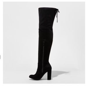 Target Over the Knee Black Boots